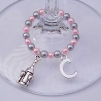 Bottle & Glasses Wine Glass Charms